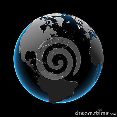 Globe (3D xray blue)