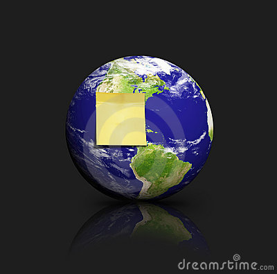 Globe with adhesive note