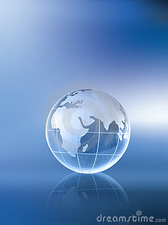 Globe-Africa Asia and Europe
