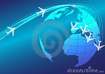 Globe and Airplanes