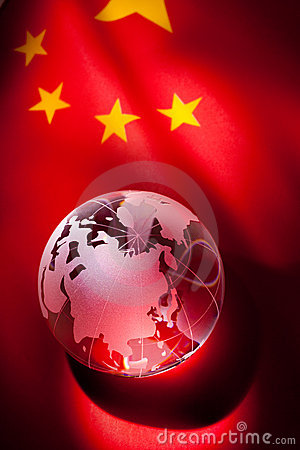 Free Globe And China Flag Stock Images - 18550514