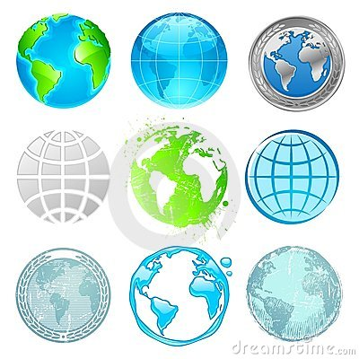 Free Globe And Earth Set Royalty Free Stock Photos - 13183228