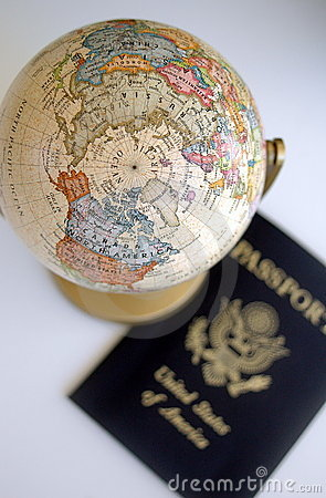 Free Globe And Passport Stock Images - 3067664