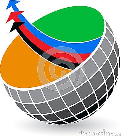 Globe arrow logo