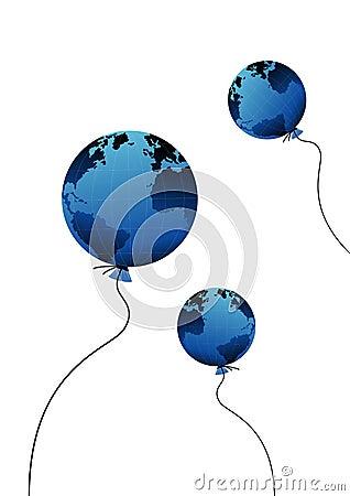 Globe as baloon