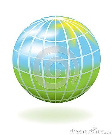 Globe as a landscape