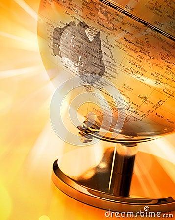 Globe Australia Map