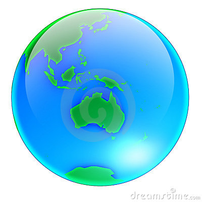 Globe Australia -no shadow