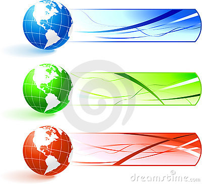 Free Globe Banners Royalty Free Stock Photos - 12393598