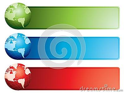 Globe banners