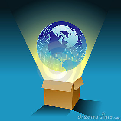 Globe and box background