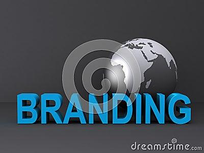 Globe and branding