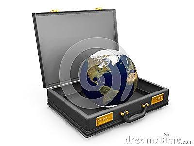 Globe in a briefcase