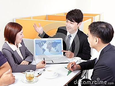 Globe business meeting
