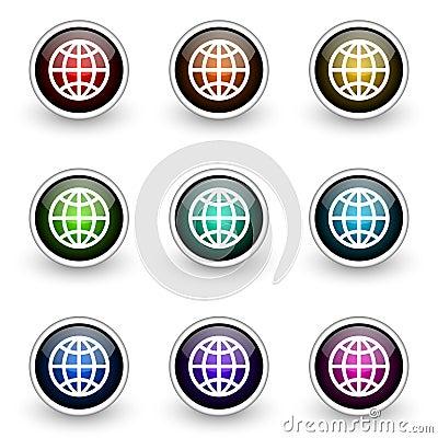 Globe button set