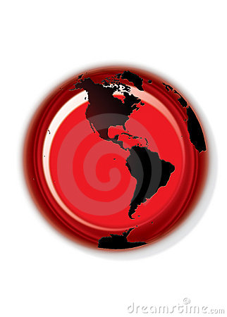 Globe button - white