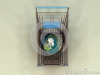 Globe in Cart