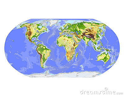 Globe centered on Africa