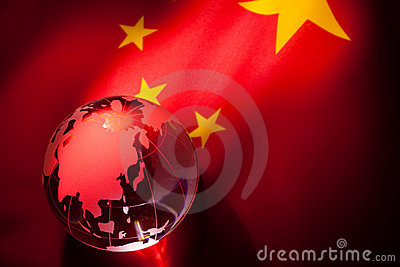 Globe and China Flag