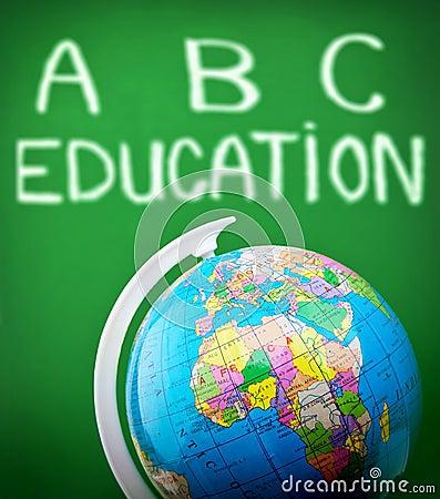 Globe in classroom