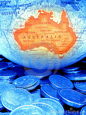 Free Globe Coins Australian Money Budget Royalty Free Stock Photos - 3311388