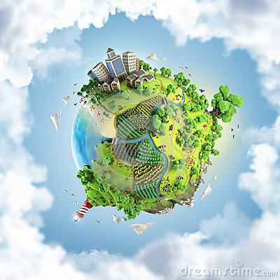 Free Globe Concept Of Idyllic Green World Royalty Free Stock Photography - 28654537