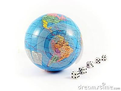 Globe cubes gamble planet earth