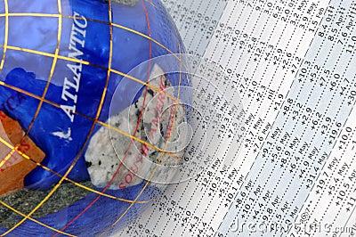 Globe and data sheet