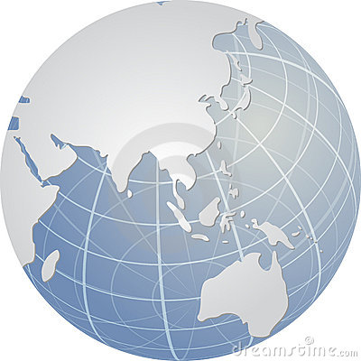 Globe de l Asie