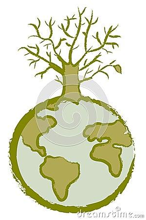 Globe dead tree