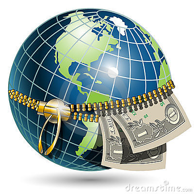 Globe with dollar