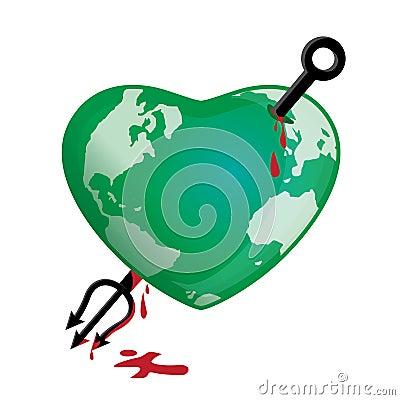 Globe Earth Attacked