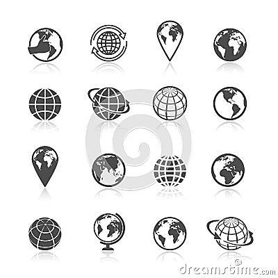 Free Globe Earth Icons Stock Photo - 40411210