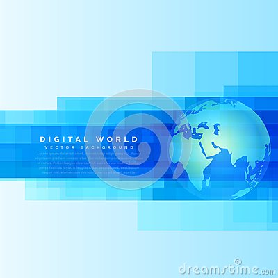 Free Globe Earth Map On Abstract Digital Blue Background Royalty Free Stock Image - 102072426