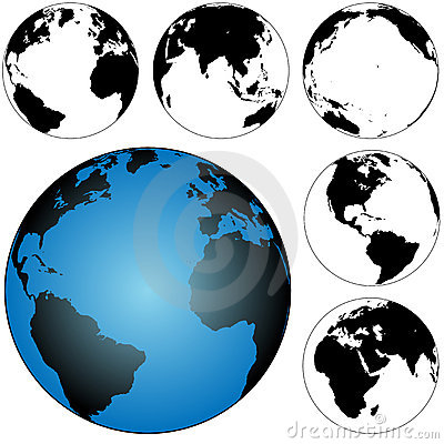 Globe Earth Maps Set