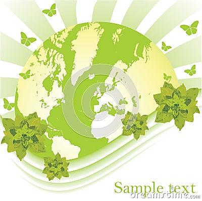 Globe: earth and nature