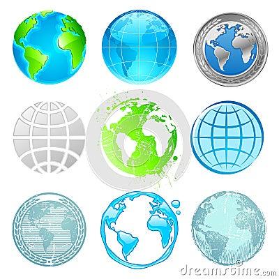 Globe and Earth set