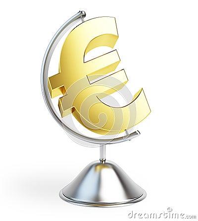 Globe euro sign