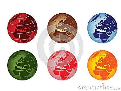 Globe - europe and africa