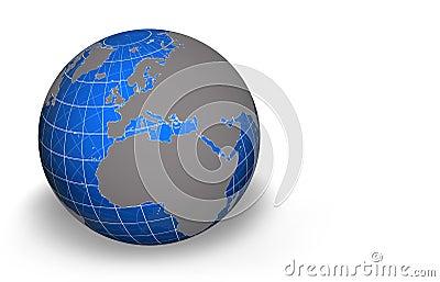 Globe, Europe/Africa