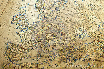 globe with Europe map