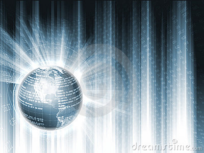 Globe with Financial Data