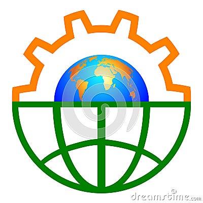 Free Globe Gear Stock Photo - 23699300