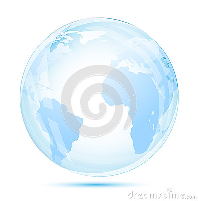 Globe glass in blue