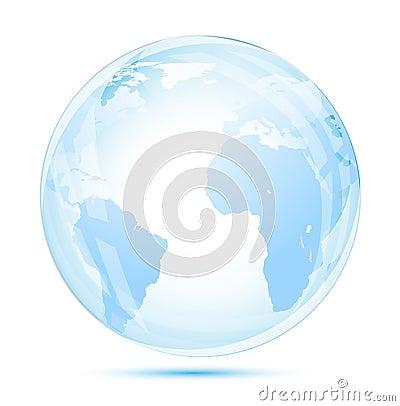 Globe glass in blue
