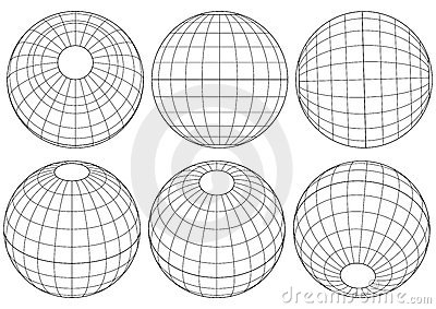 Globe grid - vector