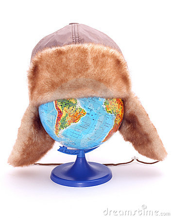 Globe with hat