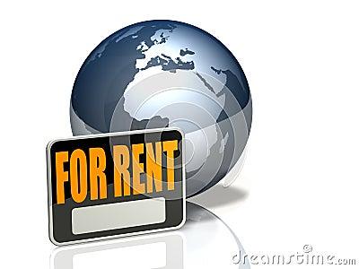 Globe Icon: For Rent