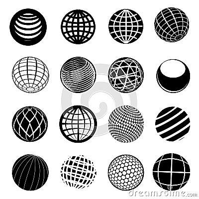 Free Globe Icon Set Royalty Free Stock Photo - 41199935
