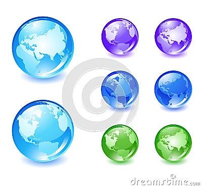Globe icons set 2